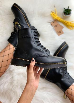 Ботинки dr. martens 1460 black черный цвет кожа без меха (36-45)💜