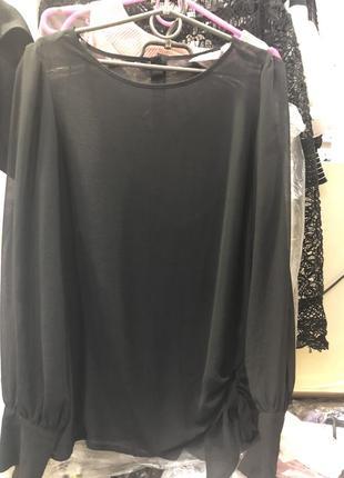 Черная нарядная блузка