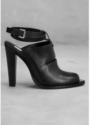 Туфли кожаные с открытой пяткой & other stories