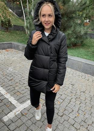 Хит сезона! теплая зимняя куртка/пуховик зефирка есть цвета +  подарок*