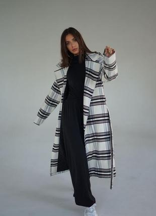 Женское кашемировое пальто утеплённое