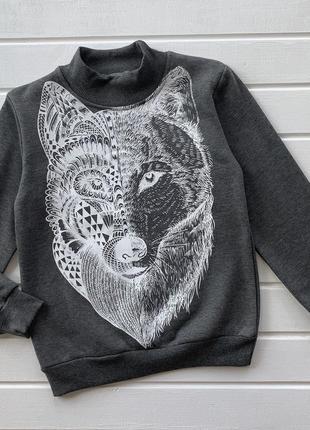 Реглан утеплённый волк