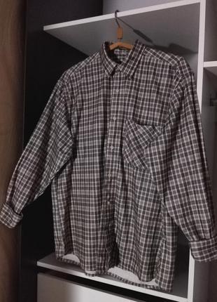 Актуальная теплая рубашка в клетку