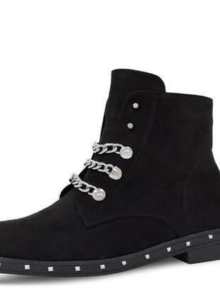 Женские ботинки chain черные
