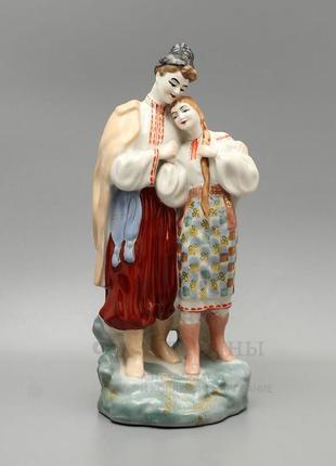 Майская ночь фарфоровая статуэтка ссср полонное винтаж влюбленные парень с девушкой