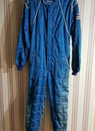 Гоночный костюм fia sparco комбинезон синий теплый размер 62