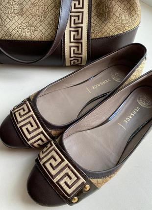 Versace балетки туфли