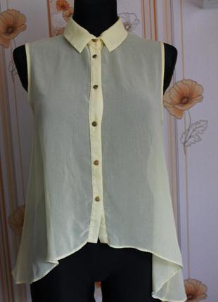 Блуза шифон с удлиненной спинкой