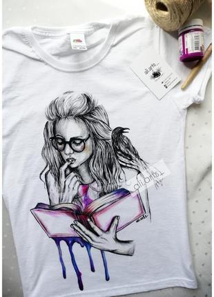Крутая футболка с ручной росписью красками рисунок не принт яркий
