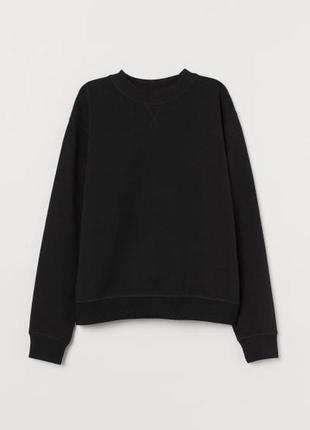 H&m чёрный хлопковый джемпер, свитер, пуловер
