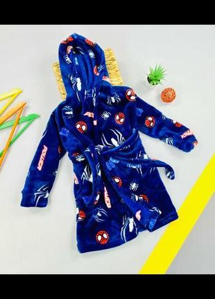 Махровый халат повномірний.дуже мягкий та приемний до тіла.  спайдермен  человек паук