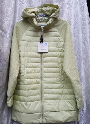 Демисезонная куртка с трикотажным рукавом