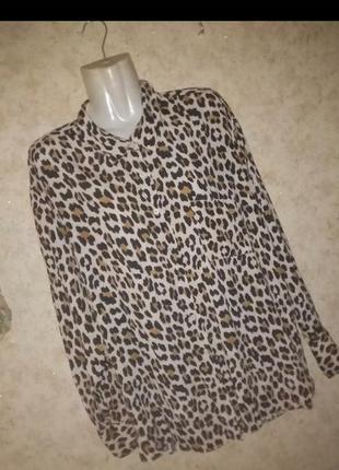 Блуза рубашка штапельная большой размер