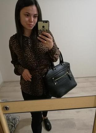 Рубашка блуза женская  леопардовая от hm s