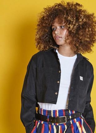 Рубашка вельветовая укороченная короткая lucy&yak органический хлопок эко