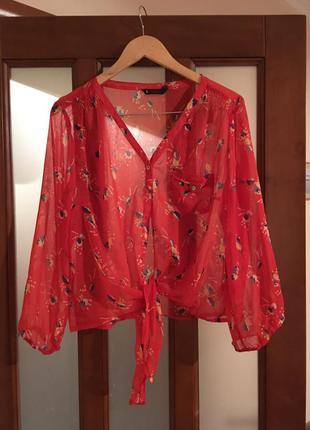 Рубашка блуза dunnes размер 18 красная