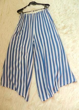 Летние укороченные кюлоты брюки юбка
