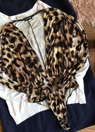 Боди с леопардовым принтом(l/xl)