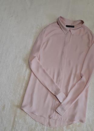 Пудровая шифоновая рубашка размер 16 atmosphere