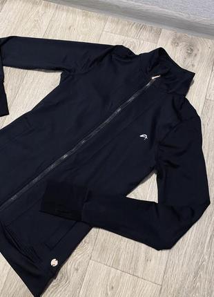 Шикарная черная худи олимпийка на змейке
