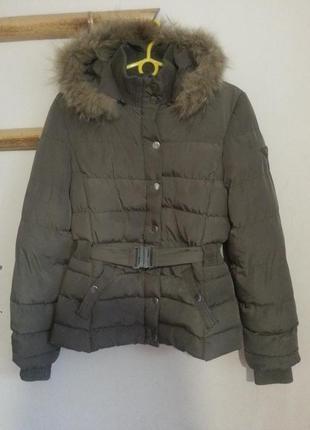 Женская осенняя куртка с мехом
