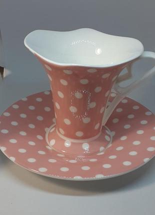 Чашка с блюдцем керамический набор мери кей