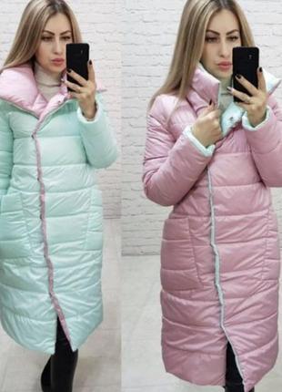 Двухстороннее пальто куртка пуховик