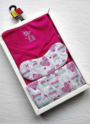 Трикотажная пижама и маска в коробке love to lounge primark