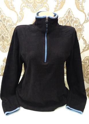 Old navy чёрный флисовый свитер на короткой молнии