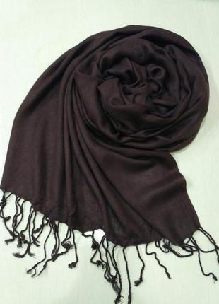 C&a большой коричневый палантин, пашмина, шарф 200×75 см