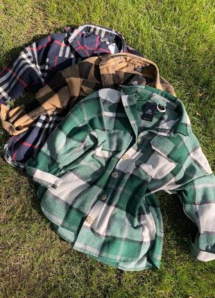 Удлиненная фланелевая рубашка