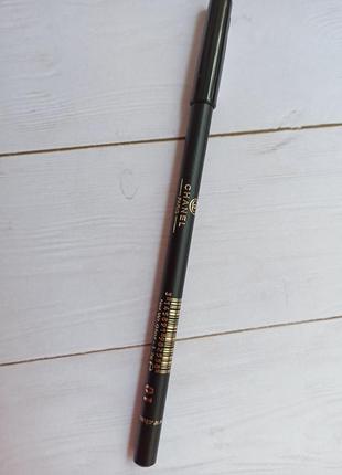 Черный карандаш для глаз и бровей олівець от chanel с витамином е2 фото