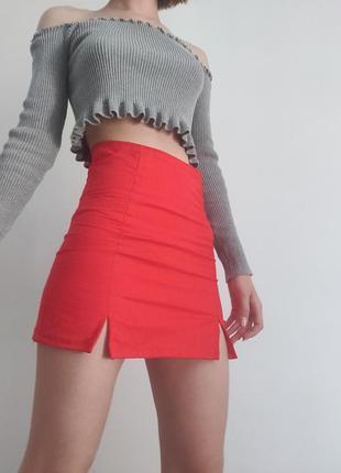 Актуальная юбка/мини юбка/ обмен/ юбка с розрезами