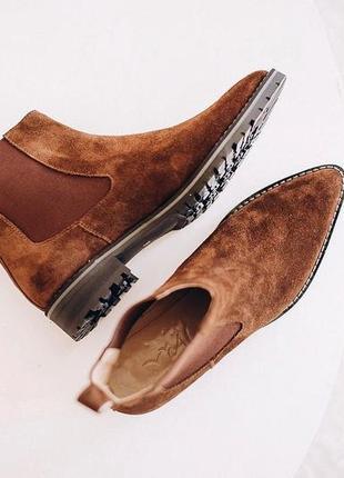 Ботинки замшевые на резинке alas