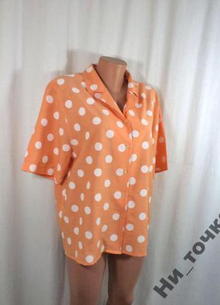 Легкая блузка в горошек - 50р sale