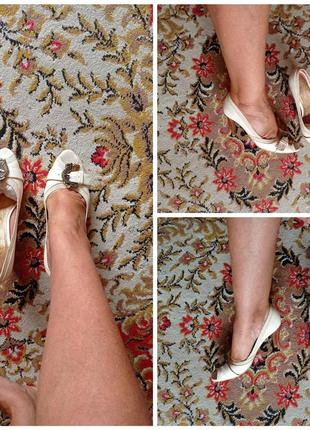 Новые кожаные туфли с открытым носком