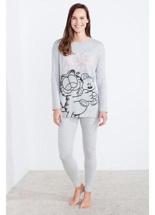 Трикотажная пижама реглан и лосины garfield womensecret