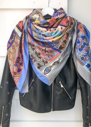 Большой шелковый платок шарф