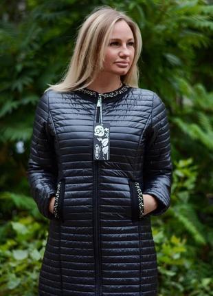 Женская стеганая удлиненная демисезонная куртка турция  ese