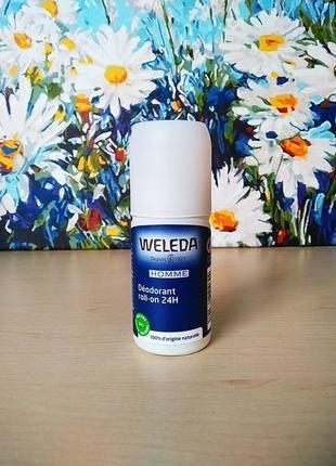Weleda deodorant homme roll-on натуральный шариковый дезодорант для мужчин