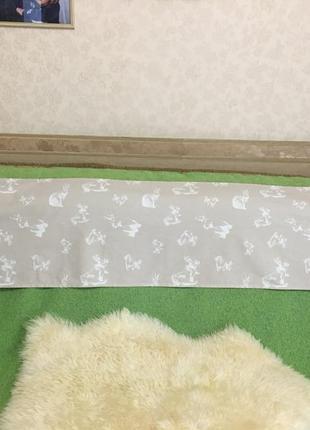 Милая скатерть-дорожка для декора стола. размер 188*40см.