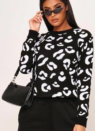 Isawitfirst. товар с англии. джемпер в популярном леопардовом дизайне.