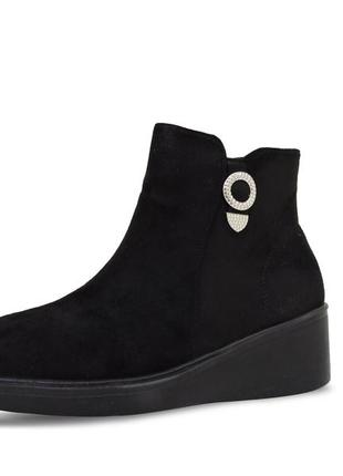 Женские ботинки land черные. 24 см.