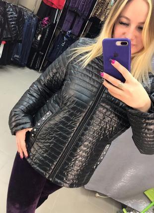 Женская стеганая демисезонная куртка турция  ese