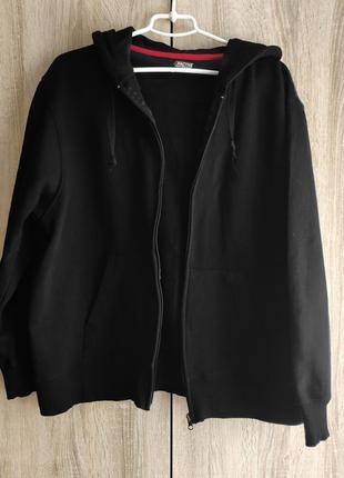 Cedarwood state l / базовое трендовое чёрное худи  на молнии, с начёсом