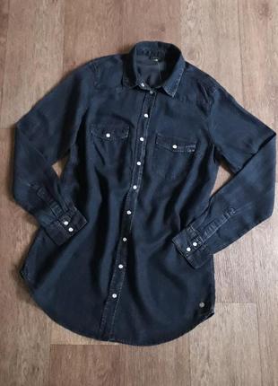 Легкая синяя рубашка esmara германия