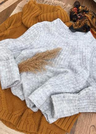 Меланжевий базовий светрик, шерсть/альпака
