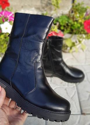 Распродажа остатков 💥женские кожаные сапоги зима - осень 2020