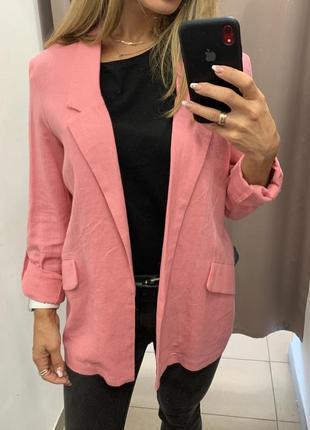 Розовый пиджак stradivarius блейзер