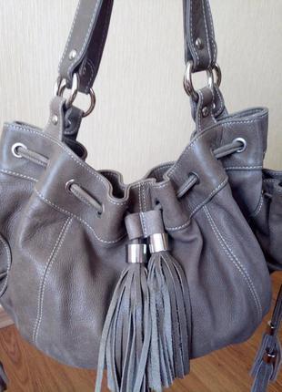 Кожаная сумка  caroll